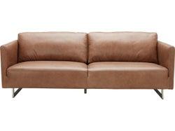 Phoenix Leather 3 Seater Sofa - Saddle