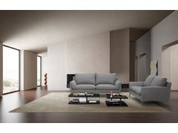 Prague Fabric 5 Seater Lounge Suite - Charcoal