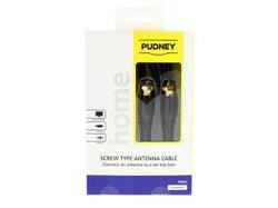 Pudney F Plug to F Plug 2M Flylead P3012