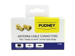 Pudney & Lee F-Type (Satellite) Twist-on Plugs - 2 Pack