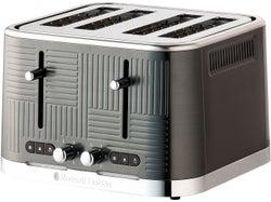 Russell Hobbs Geo Steel Collection 4 Slice Toaster - Black