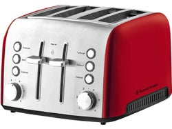 Russell Hobbs Heritage Vogue 4 Slice Toaster - Ruby Red