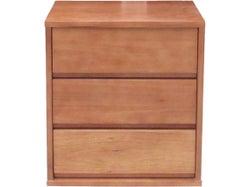 Saxon 3 Drawer Bedside - Honey