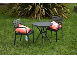 Sesia Outdoor 3 Piece Chat Set - Charcoal