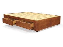 Sleepneat Queen 4 Drawer Bed Base - Old Rimu