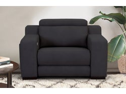 Sorrento Fabric Electric Recliner - Nusuede Graphite