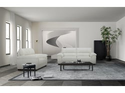 Syros Leather 5 Seater Lounge Suite - White
