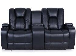 Transformer Fabric 2 Seater Electric Recliner Sofa - Ebony