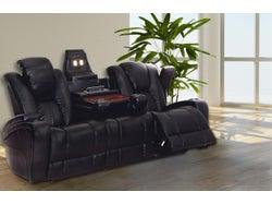 Transformer Fabric 3 Seater Electric Recliner Sofa - Ebony