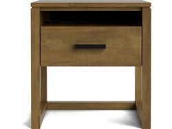 Tribeca 1 Drawer Bedside - Sawn Crate