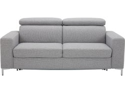 Trieste Fabric Sofa Bed - Steel