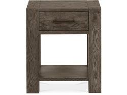 Turin Lamp Table with Drawer - Dark Oak