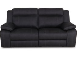 Vienna Fabric 2.5 Seater Sofa with Built in Recliners - Graphite