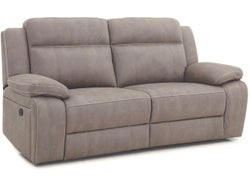Vienna Fabric 2.5 Seater with Built in Recliners - Stone