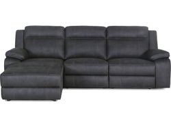 Vienna Fabric Left Chaise Lounge Suite - Graphite