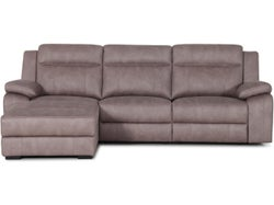 Vienna Fabric Left Chaise Lounge Suite - Stone