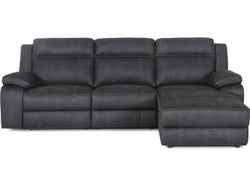 Vienna Fabric Right Chaise Lounge Suite - Graphite