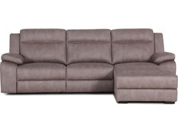 Vienna Fabric Right Chaise Lounge Suite - Stone